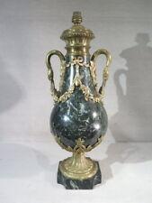 ANCIENNE JOLIE CASSOLETTE LAMPE MARBRE ET BRONZE COL DE CYGNE STYLE LOUIS XVI