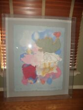 JONNA WHITE 1986 ETCHING ART LARGE PICTURE IN GLASS BOX SEA NYMPH 1985 77/500