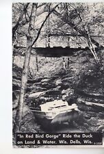 Dells Real Photo Postcard the Duck Boat in Red Bird Gorge Wisconsin Dells WI