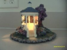 """Vtg Hawthorne Village Thomas Kinkade 2002""""Spring Gazebo""""#1521"""