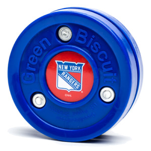Green Biscuit NHL New York Rangers Puck