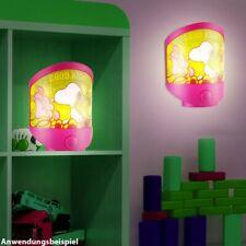 LED Tisch Leuchte Baby Deko Beleuchtung Snoopy Motiv Kinder Zimmer Wand Lampe