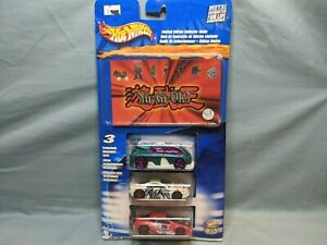 Hot Wheels Yugioh 3 Car Pack With Limited Edition Collector Guide 2001