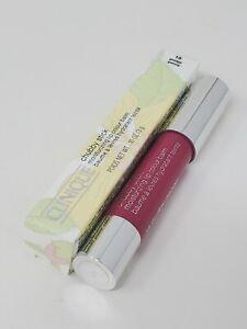 New Clinique Chubby Stick Moisturizing Lip Balm 15 Pudgy Peony Full Size