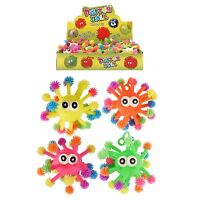 Puffer Monster Light Up Flashing Colourful Ball Sensory Tactile Toy Fidget Game
