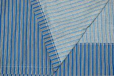 Ralph Lauren TWIN FLAT BED SHEET - Belgravia Sorrell Stripe Blue & White No Iron