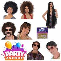 Adult Disco Fever 1970s Wig Accessories Fancy Dress Rock n Roll Lot