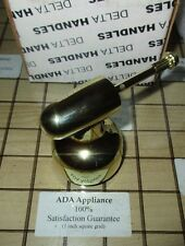 NEW DELTA Faucet H72PB Single Pol. Brass Handle for 1300/1400 Series T/S Faucets