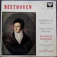 Beethoven - Piano Concerto No. 3, BACKHAUS, VPO, Decca SXL 2190 Blue Back