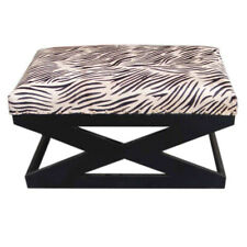 Iron Wood Modern Art Seat Comfortable Bench Living Room Home Office Room
