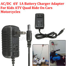 AC/DC Battery Charger Adapter 6V1A For Kids ATV Quad Ride On Cars Motorcycles US