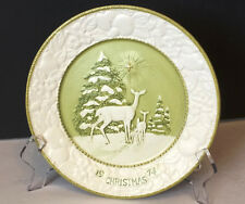 """Metlox Potteries,Songs of Christmas Series 1974, """"It came upon a Midnight Clear"""""""