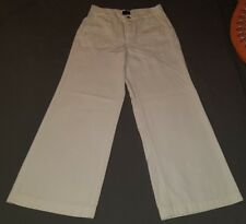 TOMMY JEANS WIDE LEG TOMMY HILFIGER WHITE SIZE 7 BUTTON FLY
