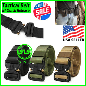 Tactical BELT Military Heavy Duty Security Guard Working Utility Nylon Waistband