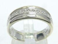 Ring Bague Goldring 333 GOLD bicolor Diamant diamond Brillant Art Deco 8kt oro