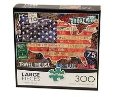 NEW SEALED BUFFALO PUZZLE TRAVEL THE USA 300 PIECES....... FREE SHIPPING!!