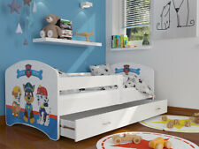 Kinderbett GLÜCK Juniorbett 160x80cm Rosa Weiß Matratze Schublade Bett Spielbett