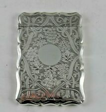Antique Sterling Silver Card Case 1864