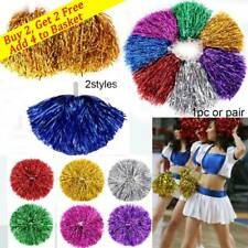 1Pair Fancy Cheerleader pompoms Cheerleading Cheering Ball Dance Party Decor