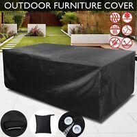 Black Gardman Waterproof Outdoor Garden Furniture Covers Table, Bench, Chair