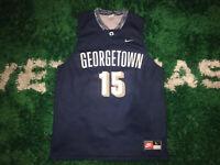 Mens Vintage Nike Georgetown Hoyas Basketball Jersey #15 Size Large Blue