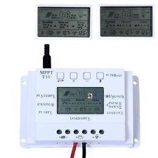 Solar Panel Battery Regulator LCD 10A 12V/24V MPPT Charge Controller BX