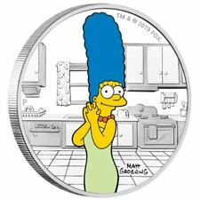 MARGE SIMPSON - THE SIMPSONS - 2019 1 oz SILVER PROOF COIN - TUVALU - PERTH MINT