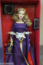 "Franklin Mint Guinevere Vinyl Portrait Doll 16"" Rare Mib With Royal Crown Coa!"