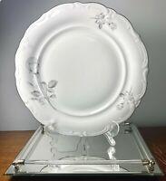 "Winterling Roslau Bavaria Germany Snow Rose 24 Porcelain Chop Plate Platter 12"""