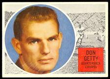 1960 TOPPS CFL FOOTBALL #13 DON GETTY EX-NM EMONTON ESKIMOS UNIV WESTERN ONTARIO