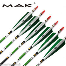 "6X31.5"" Archery MIX Carbon Arrows 7.6mm SP500 F Recurve Bow Hunting US Stock"
