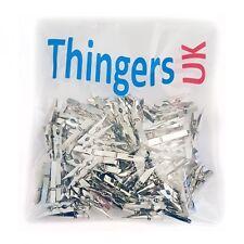 Silver Pegs Small Mini Shiny silver Pegs 2.5cm or 3.5cm