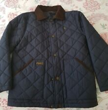 POLO RALPH LAUREN BOYS BARN QUILTED JACKET - NAVY BLUE - SIZE MEDIUM