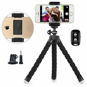 Phone Tripod, UBeesize Portable and Adjustable Camera Stand Holder with Wireless