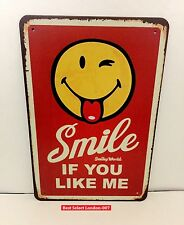 Retro Metal Tin Signs 50s Plaques Home Decor House Gift Wall Hangings Garage 20x30 Smile If You Like Me