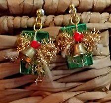 Vintage Christmas Present Novelty Fashion Earrings
