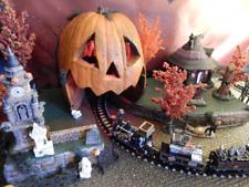 Lighted Pumpkin Train Tunnel Display Platform Base for Dept 56 Village Display