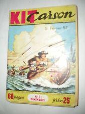 KIT CARSON n° 21 - 5 fevrier 1957 - Le cheval doré de Petit Ours -