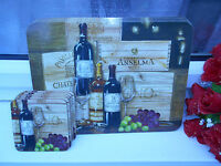 French Wine and fruit scene Gourmet Cork Heat Resistant placemats & coasters