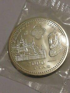 2000 pesetas de plata 1998. Felipe II