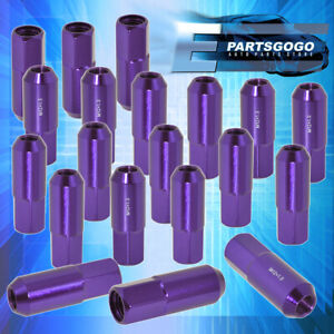 For Honda Acura Purple M12X1.5mm Extended Wheel Lug Nuts Bolts Open End 20 Pcs