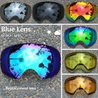 Original Lens for Ski Goggles Anti-fog UV400 Big Spherical Glasses (Lens Only)