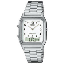 Casio Mens Classic Combi Wrist Watch, Silver, Stainless Steel Band, AQ230A-7BMQ