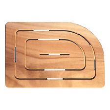 Pedana doccia legno marino okumè 75x55 cm per piatto doccia 70x90 cm