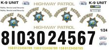 California Highway Patrol 1/25th - 1/24th Scale Waterslide Decals Police
