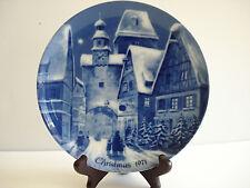 Rothenburg on Tauber German Christmas 1971 Plate