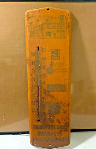 OLD GARAGE SERVICE STATION SIGN THERMOMETER KELLY TIRES TRIMPEY'S MIDDLEBURG PA
