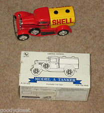 SHELL DIE-CAST METAL TOY MODEL A TANKER TRUCK BRAND NEW LOCKABLE COIN BANK