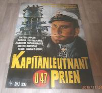 A1-Filmplakat  KAPITÄNLEUTNANT PRIEN U47 ,  DIETER EPPLER,U BOOT