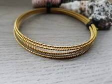 20g Twisted Brass Wire | Bare Wire | 5 Ft Lengths